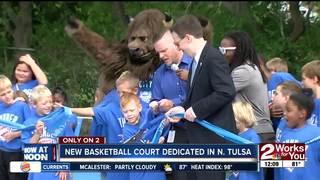 North Tulsa gets new Thunder basketball court