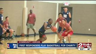 First responders play basketball for charity