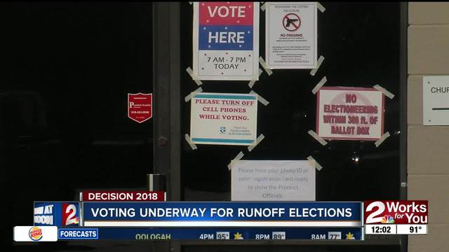 Voting underway for runoff elections in Oklahoma