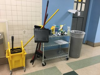 Students learn janitor duties at charter school