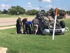 Person of interest crashes vehicle after pursuit