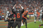 PHOTOS: Mayfield leads Browns to rare win