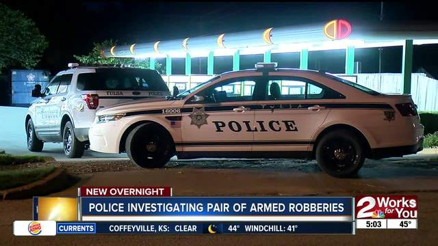 Tulsa Police investigate pair of armed robberies