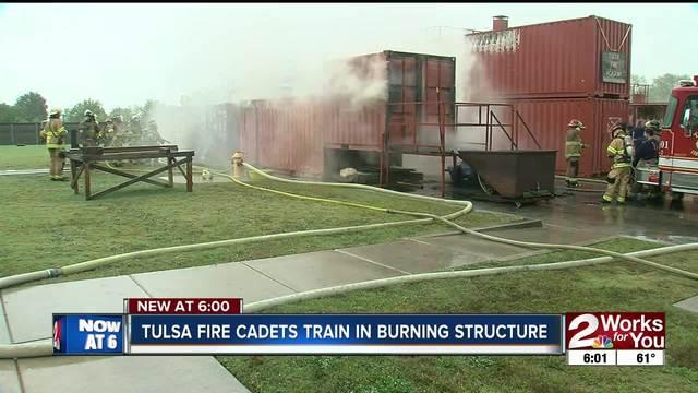 Tulsa fire cadets train through live burn