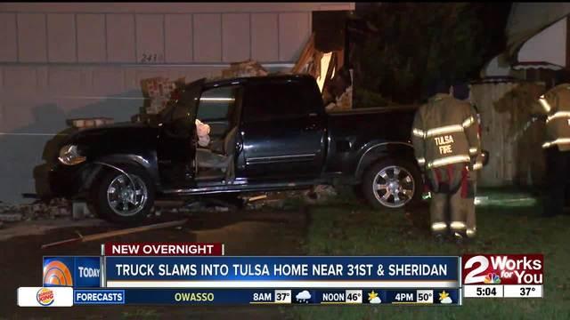 Truck slams into Midtown Tulsa home