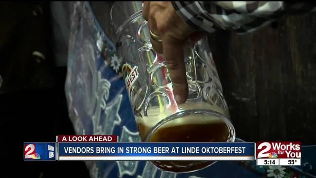 Vendors bring in strong beer at Linde Oktoberfest