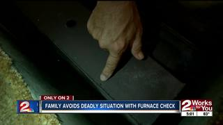 Family avoids deadly situation in furnace check