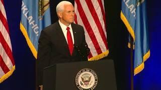 Pence: Stitt 'cut from mold' of President Trump