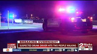 Suspected drunk driver hits two women