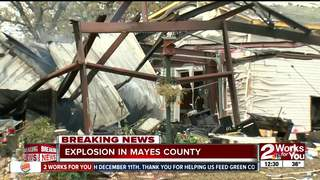 No injuries after home explosion in Mayes County