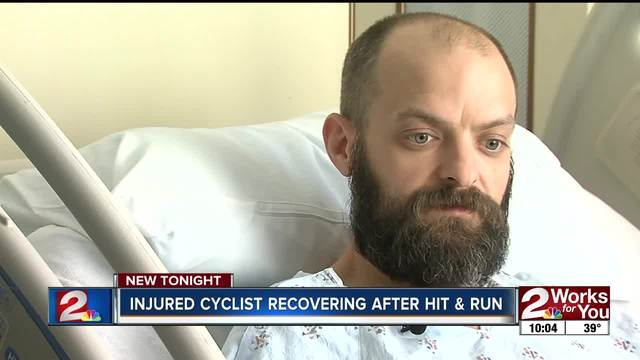 Cyclist recovering after Tulsa hit & run crash