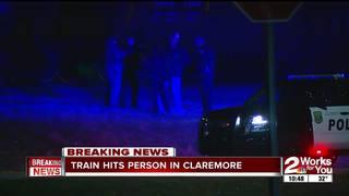 Claremore PD: Pedestrian struck by train