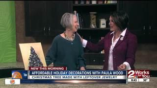 Paula Wood creates affordable holiday decoration
