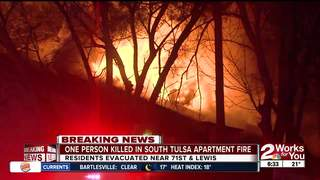 One person killed in south Tulsa apartment fire