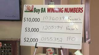 'Buy Broken Arrow' winning ticket numbers drawn